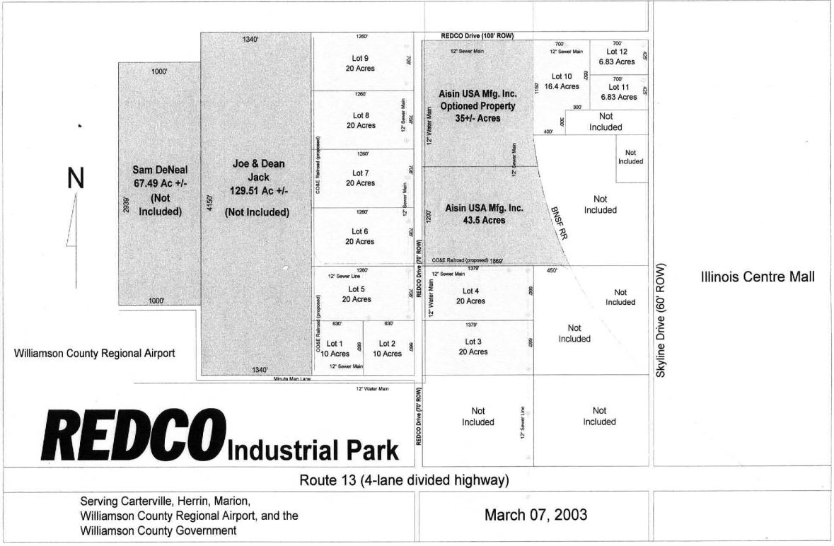 REDCO Industrial Park Map